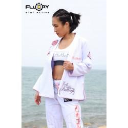 Fluory BJJ GI Butterfly White