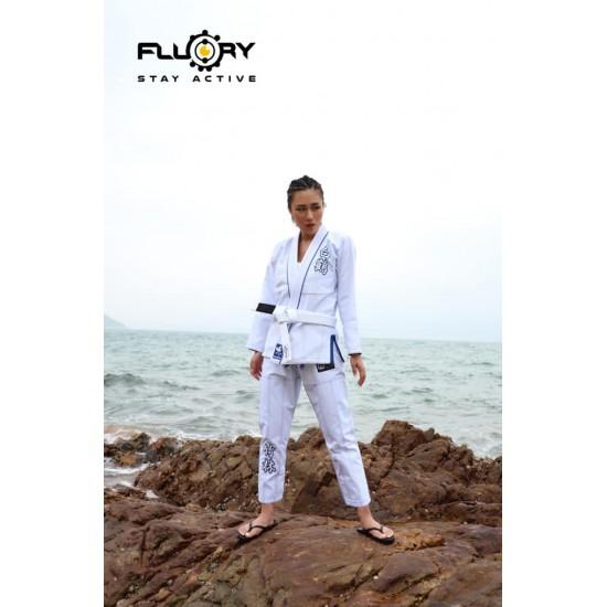 Fluory BJJ GI White Crane White