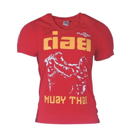 Fluory Muay Thai Tee Red