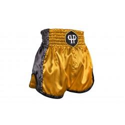 Pryde Basic Muay Thai Shorts Gold