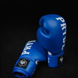 Pryde Muay Thai Gloves Blue Leather